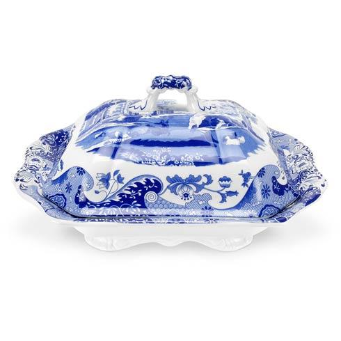 Spode  Blue Italian Covered Vegetable Dish $160.00