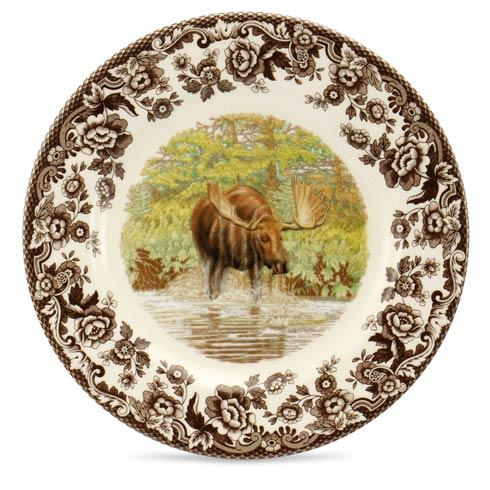 Spode Woodland Assorted Majestic Moose Salad Plate $32.50