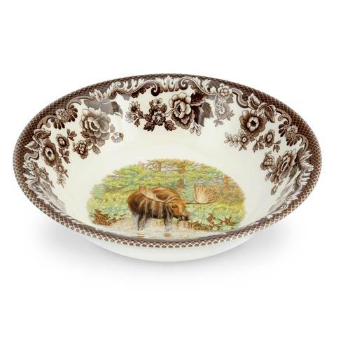 Spode Woodland Assorted Majestic Moose Ascot Cereal Bowl $45.50
