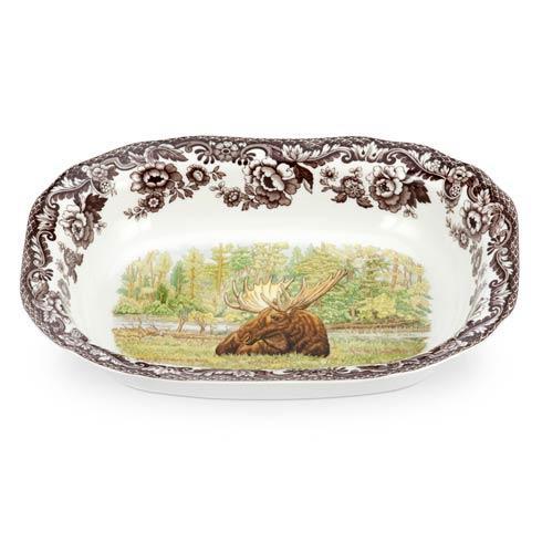 Spode Woodland Assorted Majestic Moose Open Vegetable Dish $84.00
