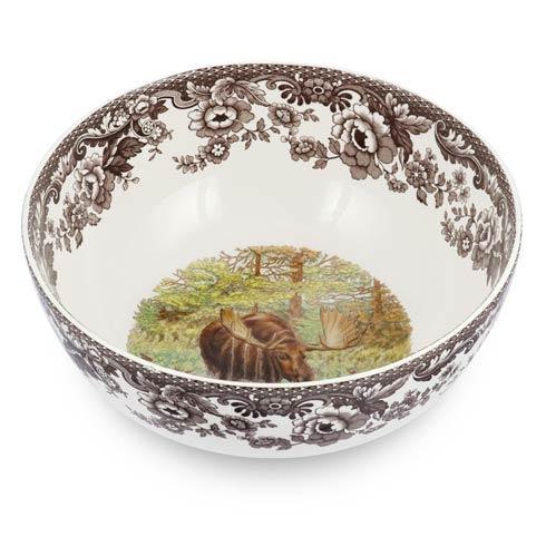 Spode Woodland Assorted Majestic Moose Round Salad Bowl $145.00