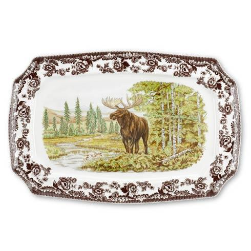 Spode Woodland Assorted Majestic Moose Rectangular Platter $132.00