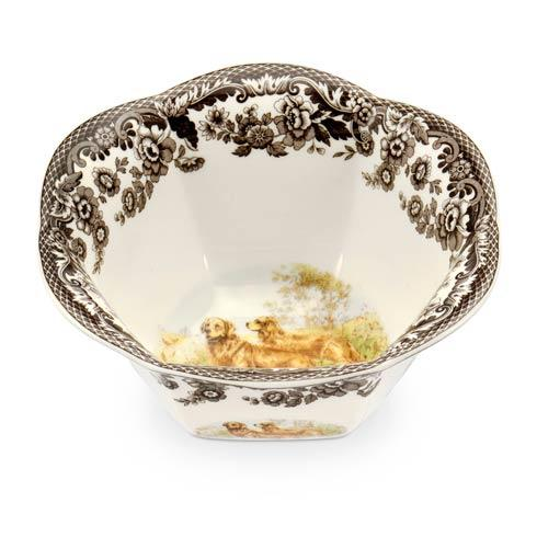 Spode Woodland Hunting Dogs Collection Golden Retriever Nut Bowl $42.00