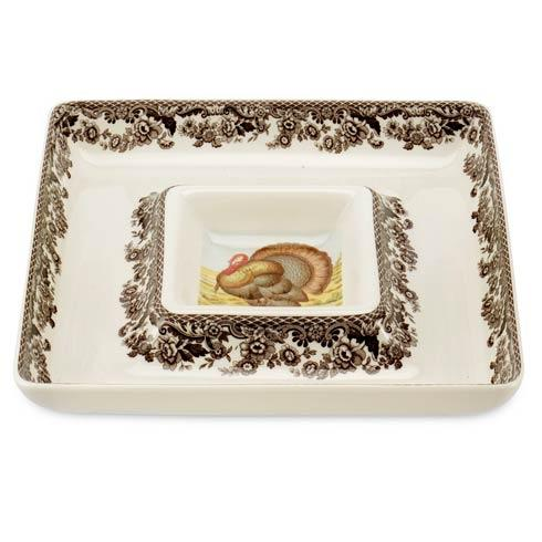Spode Woodland Turkey Collection Square Chip and Dip $100.00