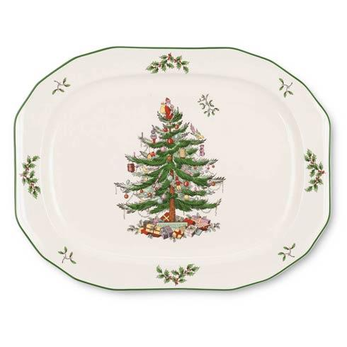 Spode Christmas Tree  Serveware/Giftware Sculpted Oval Platter $42.00
