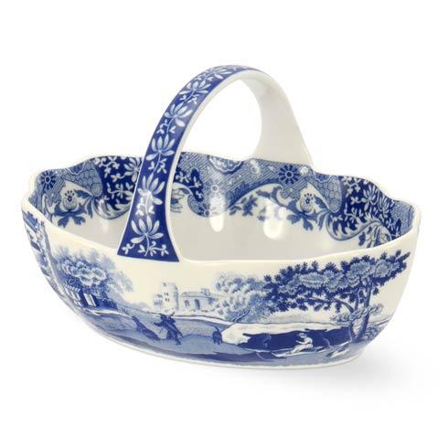 Spode  Blue Italian Handled Basket $21.00