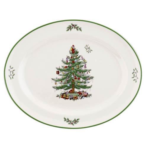 Spode Christmas Tree  Serveware/Giftware Rimmed Oval Platter $29.99