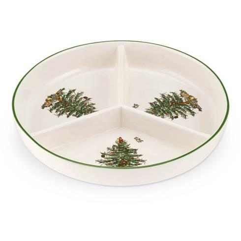 Spode  Christmas Tree 3-Section Hors D\'oeuvres Low Platter $19.99