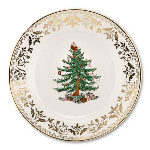 Spode Christmas Tree  Gold Collection Gold Collection Salad Plate $79.96