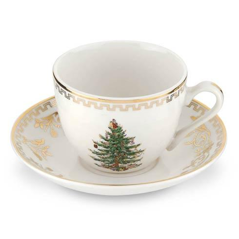 Spode Christmas Tree  Gold Collection Gold Collection Teacup & Saucer $119.96