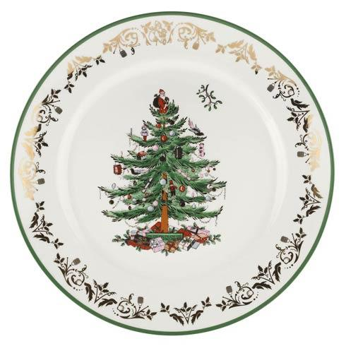 Spode Christmas Tree  Gold Collection Gold Collection Gold/Green Round Platter $80.00