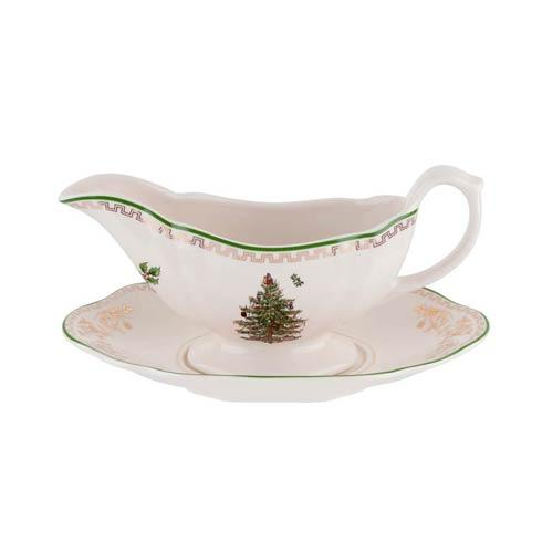 Spode Christmas Tree  Gold Collection Gold Collection Sauce Boat & Stand $100.00