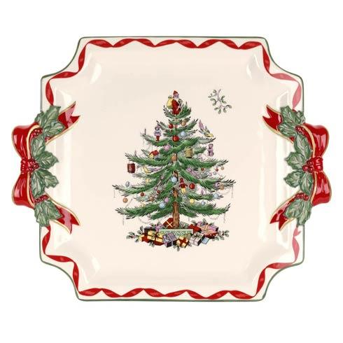 Spode  Christmas Tree Gold Ribbons Collection Square Platter $39.99