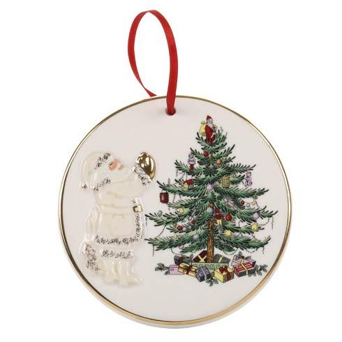 Spode Christmas Tree  Gold Collection Gold Figural Collection Santa Ornament $19.99