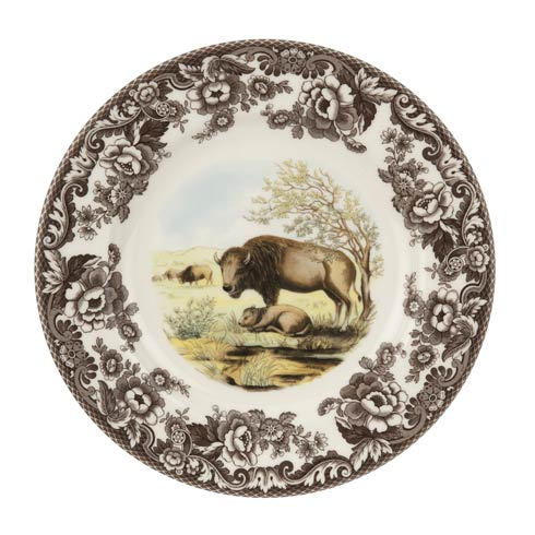 Spode Woodland American Wildlife Collection 10.5 Inch Dinner Plate Bison $37.00