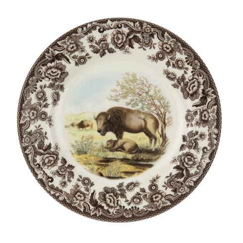 Spode Woodland American Wildlife Collection 8 Inch Salad Plate Bison $26.00