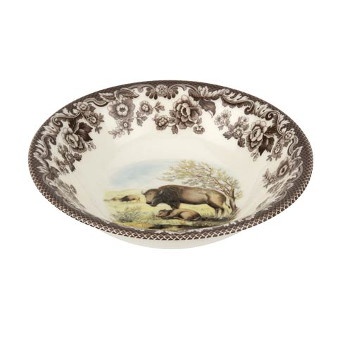 Spode Woodland American Wildlife Collection 8 Inch Cereal Bowl Bison $36.40