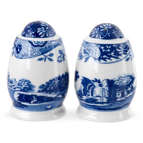 Spode  Blue Italian Salt and Pepper Shakers $46.00