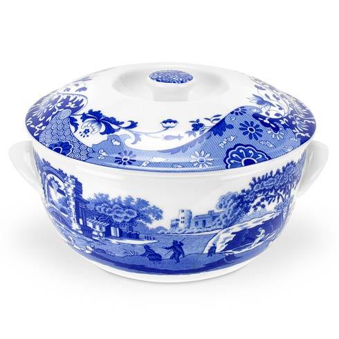 Spode  Blue Italian Round Covered Deep Dish $140.00