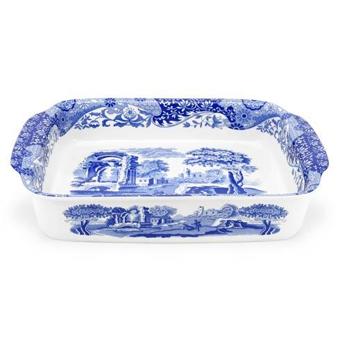Spode  Blue Italian Large Rectangular Handled Dish $144.00