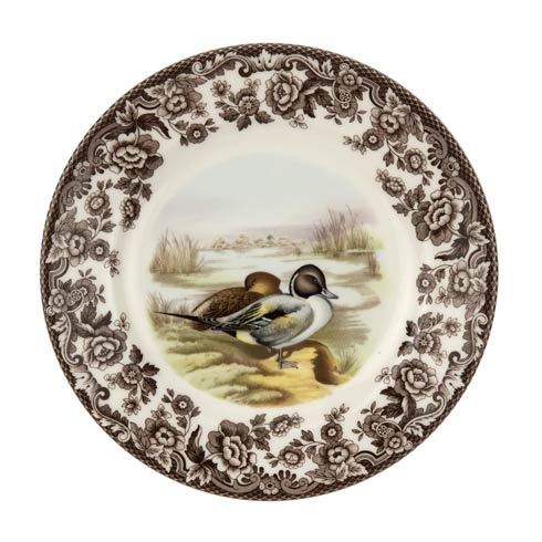 Spode Woodland American Wildlife Collection 8 Inch Salad Plate Pintail $32.50