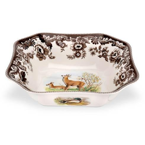 Spode Woodland Assorted Deer Square Serving Bowl $84.00