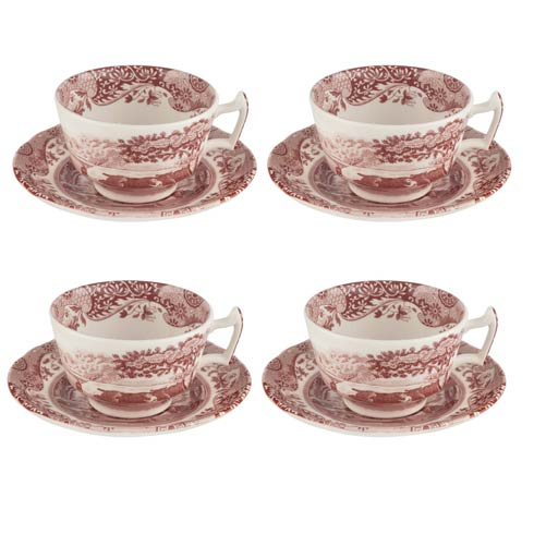 $100.00 7 oz Teacup & Saucer - Set of 4