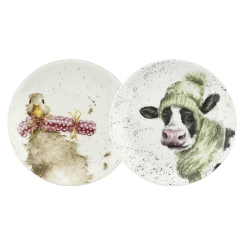 $19.99 6.5 Inch Coupe Plate (Duck & Cow) - Set of 2