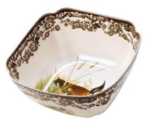 Spode Woodland Assorted Lapwing and Quail Square Serving Bowl $157.50