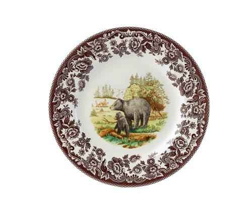 Spode Woodland American Wildlife Collection Black Bear Dinner Plate $46.25