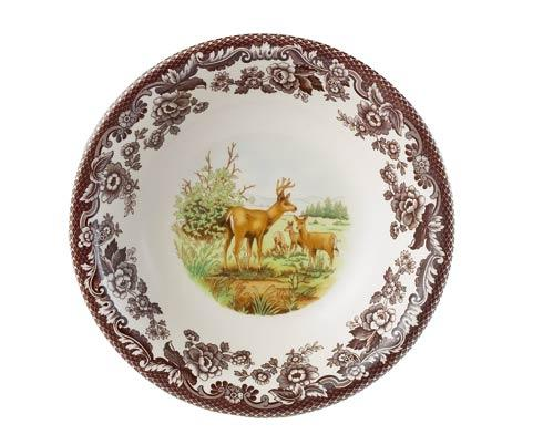 Spode Woodland American Wildlife Collection Mule Deer Ascot Cereal Bowl $45.50