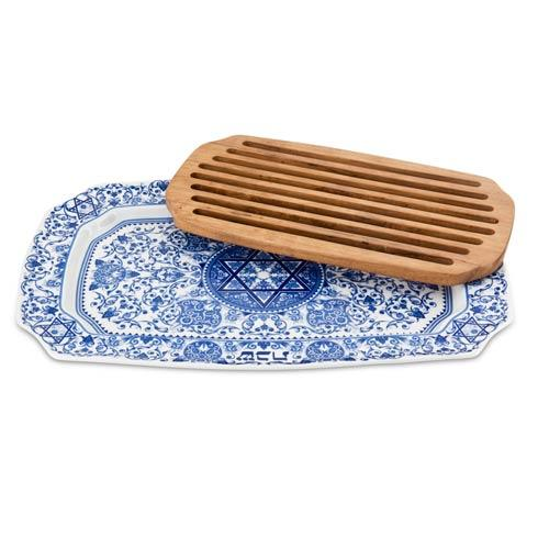 $179.00 Challah Tray with Wood Insert
