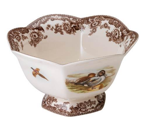 Spode Woodland Assorted Lapwing and Quail Hexagonal Footed Bowl $105.00