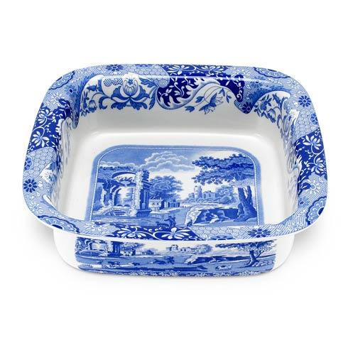 Spode  Blue Italian Square Dish $56.00