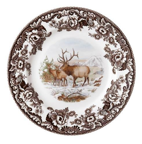 Spode Woodland American Wildlife Collection Elk Dinner Plate $37.00