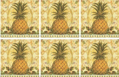 $15.00 Golden Pineapple Coasters - Set of 6