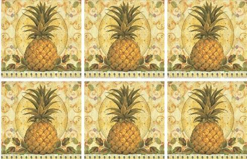 $15.00 Golden Pineapple Coasters - Set of 6