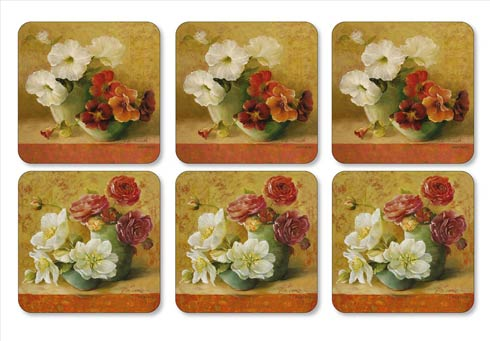$15.00 Floral Offering Coasters - Set of 6