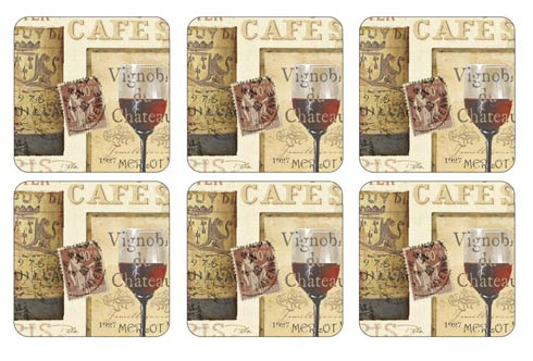 $15.00 The French Cellar Coasters - Set of 6