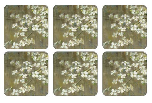 $15.00 Dogwood in Spring - Set of 6 Coasters