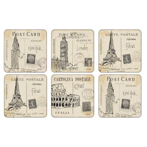 $15.00 Postcard Sketches Coasters - Set of 6