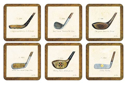 $15.00 A History of Golf Square Coasters - Set of 6