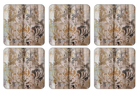 $15.00 Frozen in Time Coasters 4.25 Inch Square - Set of 6