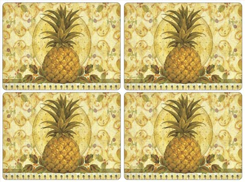 $40.00 Golden Pineapple Placemats - Set of 4