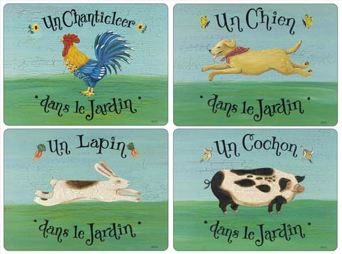 Pimpernel Placemats, Coasters, & Trays Animals Dans le Jardin Placemats - Set of 4 $40.00