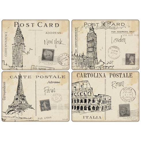 $40.00 Postcard Sketches Placemats - Set of 4