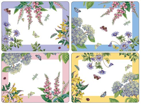 Botanic Garden Terrace Placemats - Set of 4