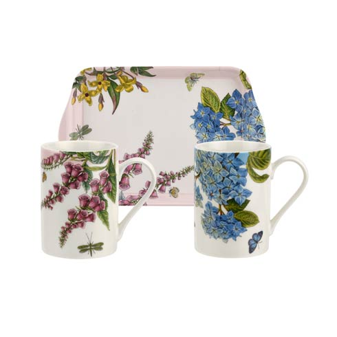 $25.00 Botanic Garden Terrace Mugs & Tray - Set of 2