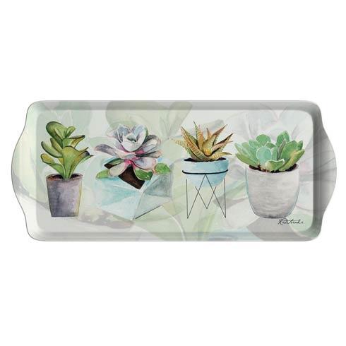 $10.00 Succulents Melamine Sandwich Tray