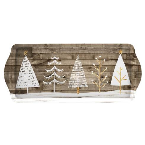 $10.00 Wooden White Christmas Melamine Sandwich Tray
